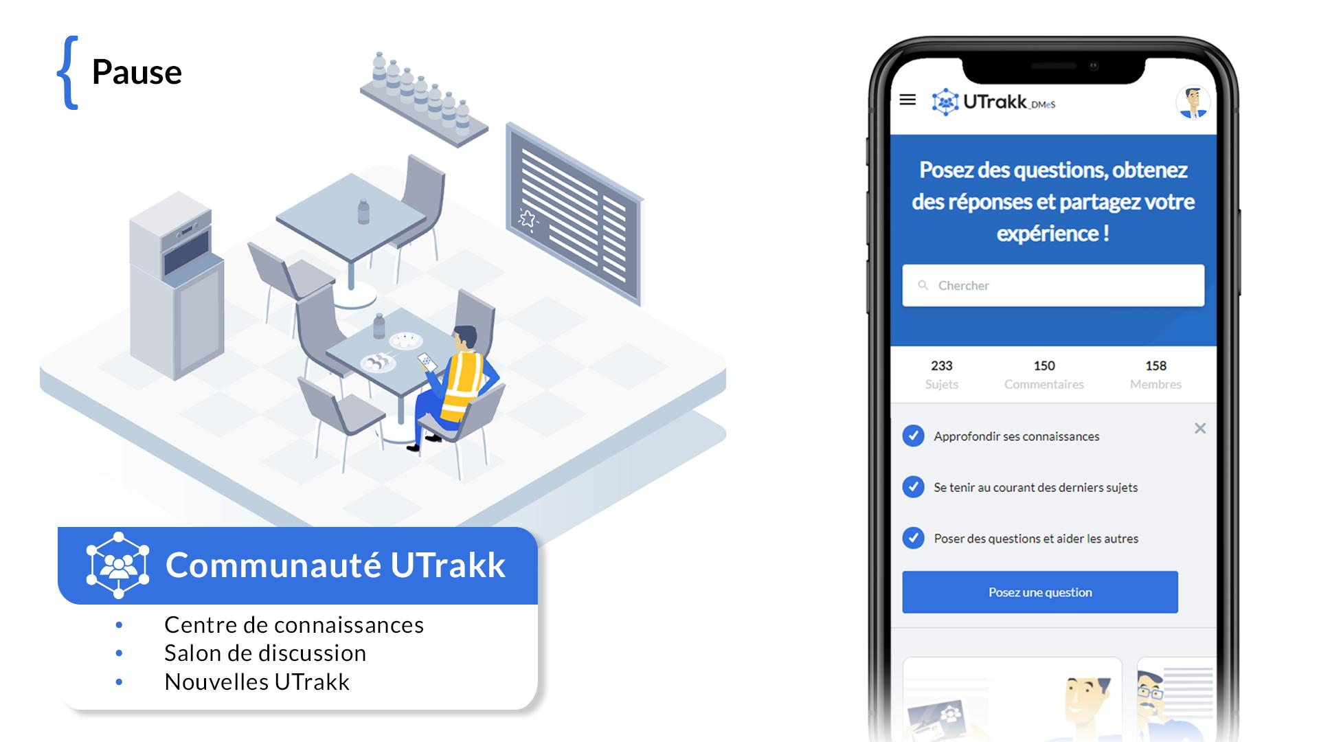 Communauté UTrakk : centre de connaissances, salon de discussion, nouvelles UTrakk